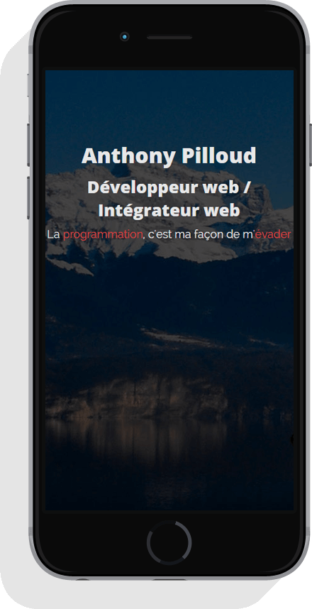 Iphone adaptation site Anthony Pilloud développeur web en Franche-Comté